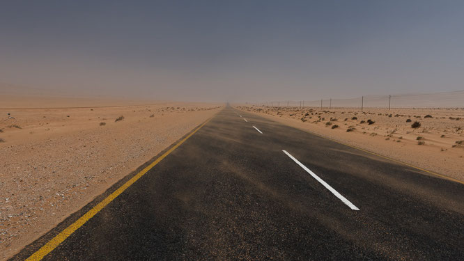 the desert starts before lüderitz and behind aus, namibia