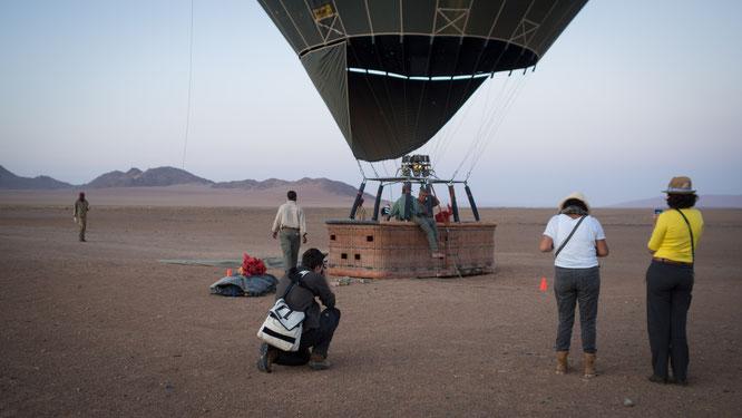 heissluftballonflug | namib wüste | namibia