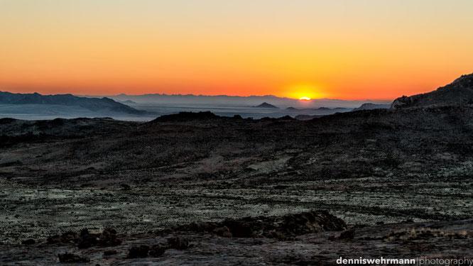 sonnenuntergang namib naukluft park namibia