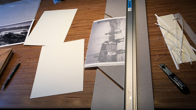 Photomontage on the kitchen table - streetphotography township Langa Cape Town South Africa
