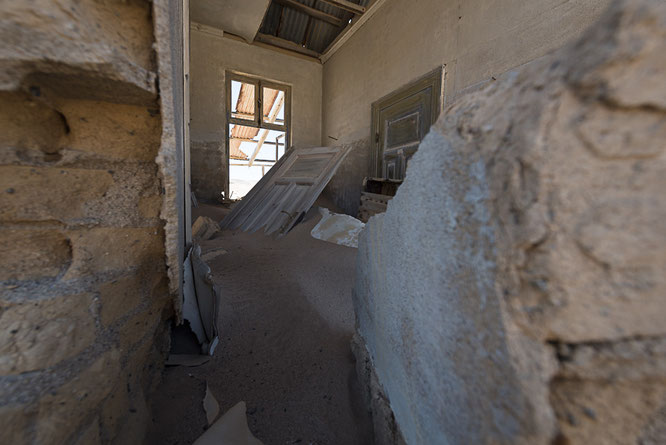 Old mine of Pomona, diamant restricted area Namibia
