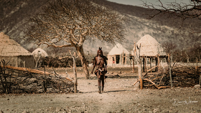 himba kraal epupa kaokoveld namibia