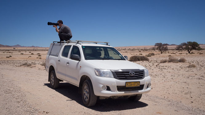 shooting from an elevated position, garup namibia