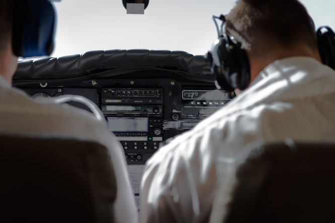 Original 1963 cessna from the inside, only the GPS is an update, scenic flight Swakobmund - Namib Desert Namibia