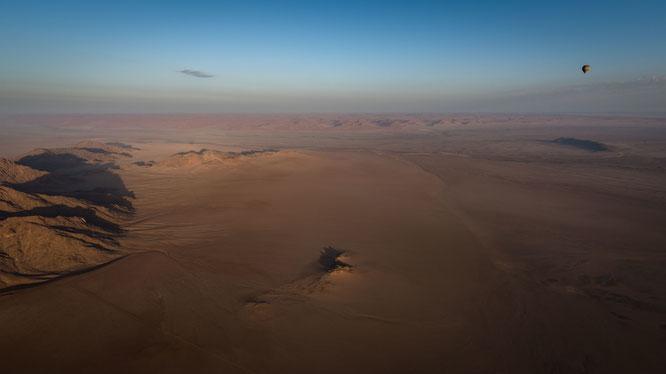 Namib sky balloon safari Namibia - Namib Naukluft Park, Sossusvlei - our second ballon is the far distance