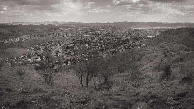 panoramic view township katutura windoek namibia 2015
