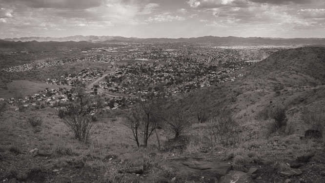 panoramic view township katutura windoek namibia 2015