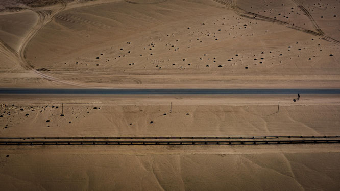 Bird`s eye view, scenic flight Swakobmund - Namib Desert Namibia
