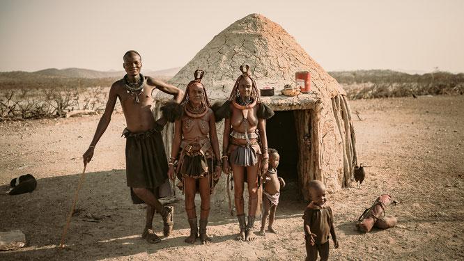 portrait himba tribe epupa falls kaokoveld namibia