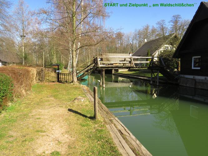 ACHTUNG: hinter der Holzbrücke rechts-lauert  eine kleine Fußhupe auf ahnungslose Paddleropfer ;-) ;-)...