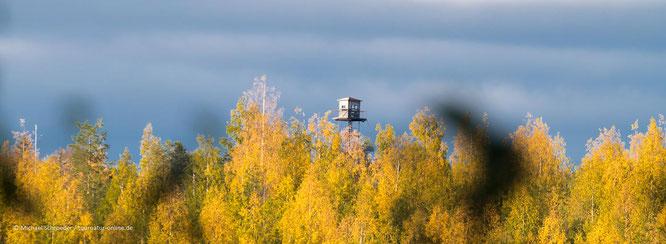 Wachtürme an der finnisch-russischen Grenze