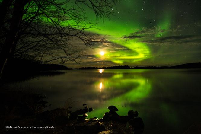 Polarlichter in Finnland Lappland