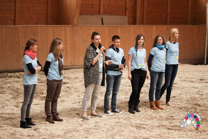 Das fabelhafte Pfernetzt-Team bei der Begrüßung! Foto by Tom (Pferdeflüsterei)