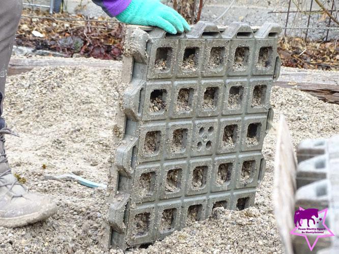 Paddockplatten verlegen, abbauen, rückbauen, Paddockbefestigung, TTE-Platten