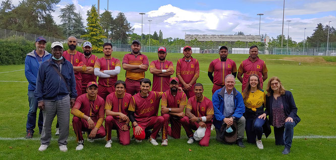Geneva Cricket Club & members of the late David Barmes' family