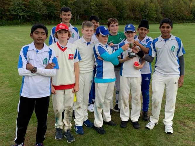 Zurich Crickets CC U13 Romande Cup winners 2019