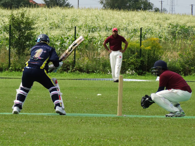 Latvia versus Switzerland 3rd/4th place play-off match at the Euro T20 Cup (11-14.8.2016)