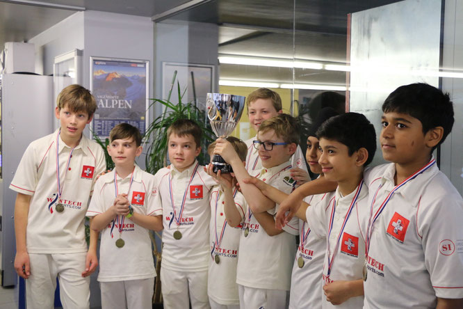 Swiss U11s, winners of the 2018 Basel indoors (11-12.3.2018)