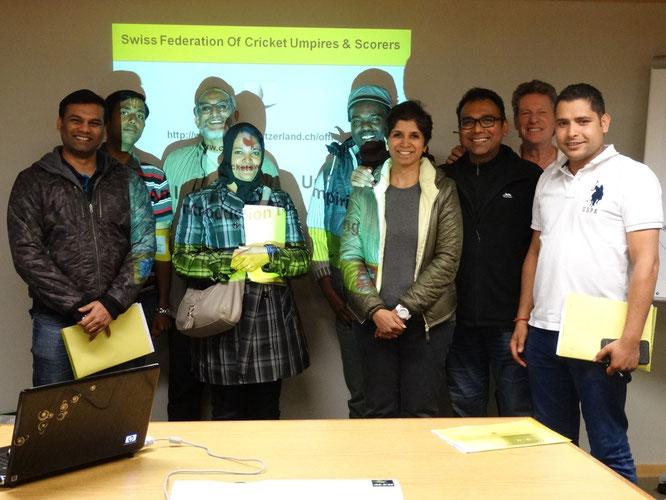 Successful swissFOCUS introduction to umpiring course participants (25.4.2015)