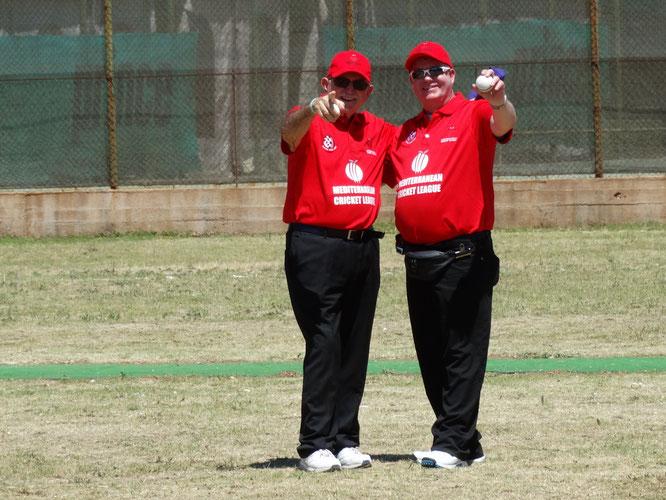 Tom Polich & Alex Mackay (umpires)