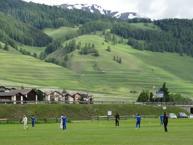 Cricket in Zuoz in 2019