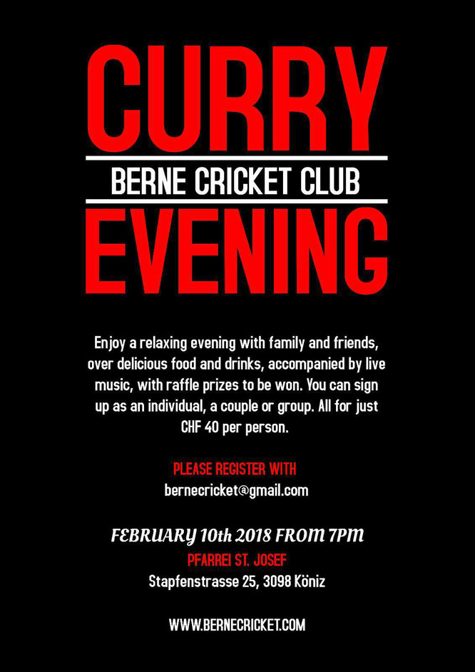 Berne CC Curry Evening