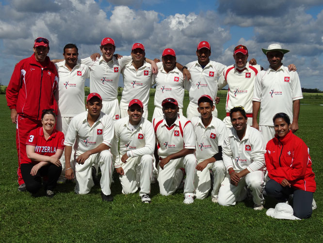 Swiss squad at the Euro T20 Cup in Warsaw (11-14.8.2016)