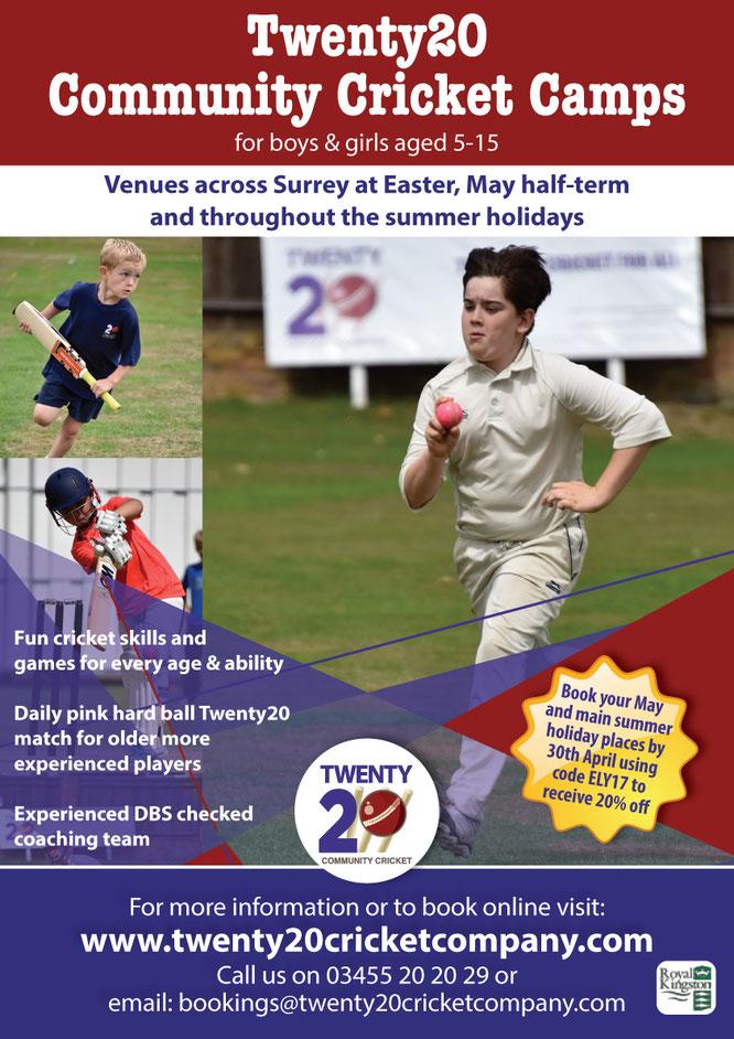 T20 International Summer Community Cricket Camps