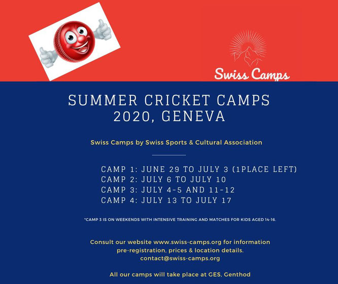Swiss junior summer cricket camps