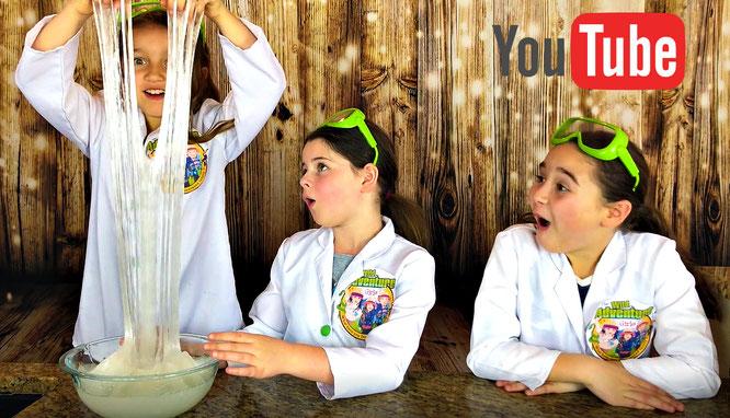 The Wild Adventure Girls, slime, diy, bubble wrap slime