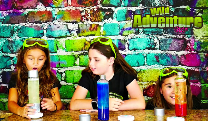 lava lamp, diy, homemade, crafts, lava lamp recipe, the wild adventure girls