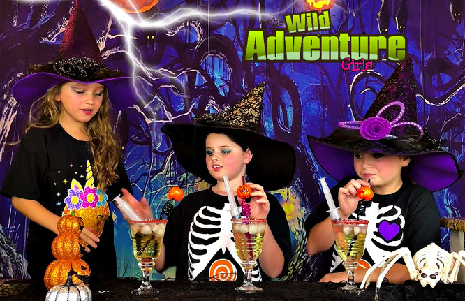 Halloween, diy, goblin punch, crafts, treat recipe, the wild adventure girls