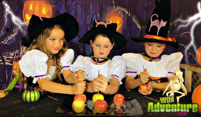 treats, halloween treats, the wild adventure girls, halloween apples