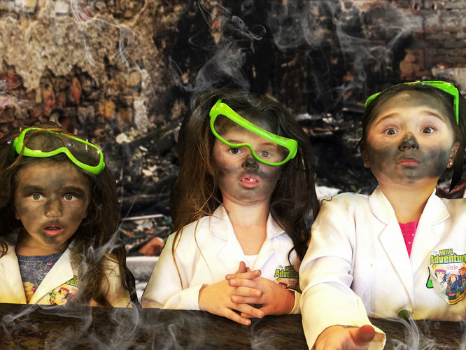 volcano experiment, the wild adventure girls, wild adventure girls