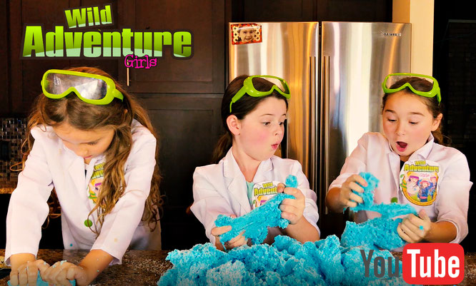 The Wild Adventure Girls, slime, diy, cloud slime