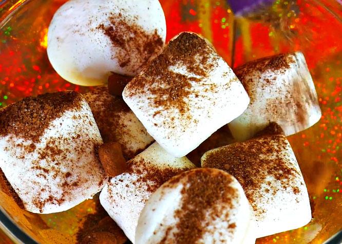 fluffy slime, edible marshmallow slime, melted marshmallows, starbucks