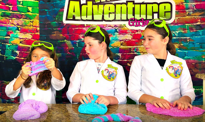 The Wild Adventure Girls, slime, diy, unicorn slime