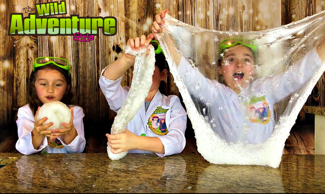 Slime, diy, bubble wrap slime, crafts, slime recipe, the wild adventure girls, bubble wrap