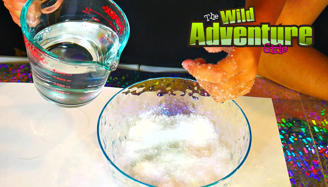 The Wild Adventure Girls, slime, diy, instant snow