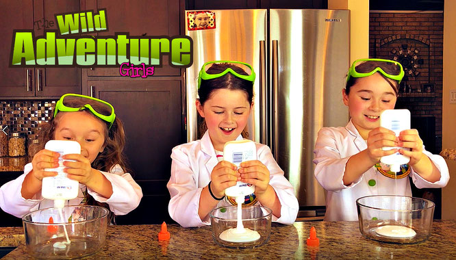 The Wild Adventure Girls, slime, diy, slime