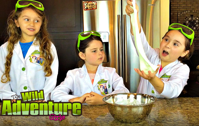 The Wild Adventure Girls, slime, diy, magnetic slime