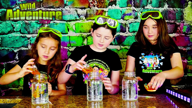 fun science experiments for kids, fireworkds in a jar, wild adventure girls