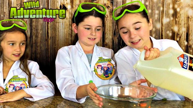 slime, bubble wrap slime, the wild adventure girls