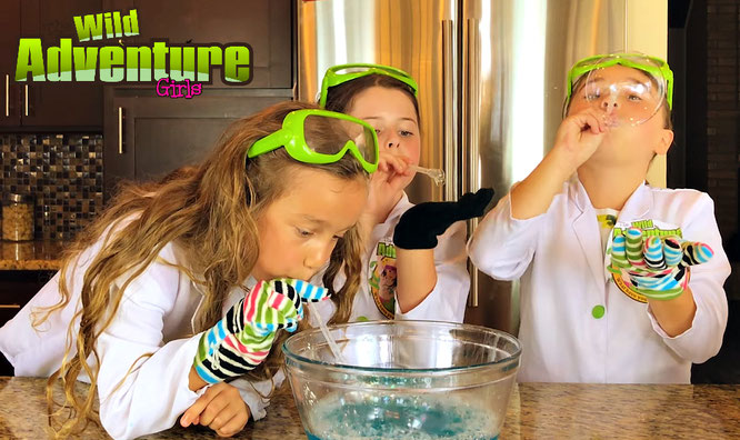 bubble, diy, unpoppable bubbles, crafts, bubble recipe, the wild adventure girls, fun activities for kids