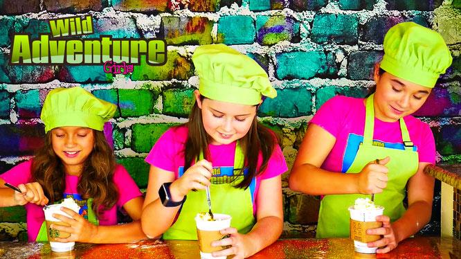 edible slime, Slime, the wild adventure girls, starbucks slime