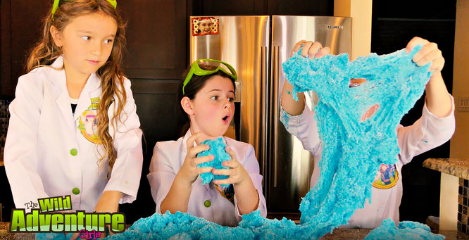 Slime, diy, cloud slime, crafts, slime recipe, the wild adventure girls