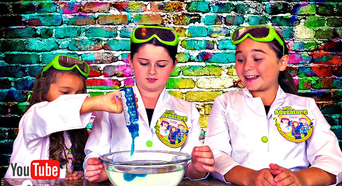 slime, aquarium slime, the wild adventure girls, clear slime diy
