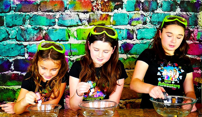 slime, kids slime recipe, slime with contact lense solution, slime videos, the wild adventure girls