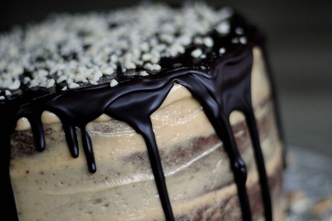 Naked Chocolate Peanut Cake