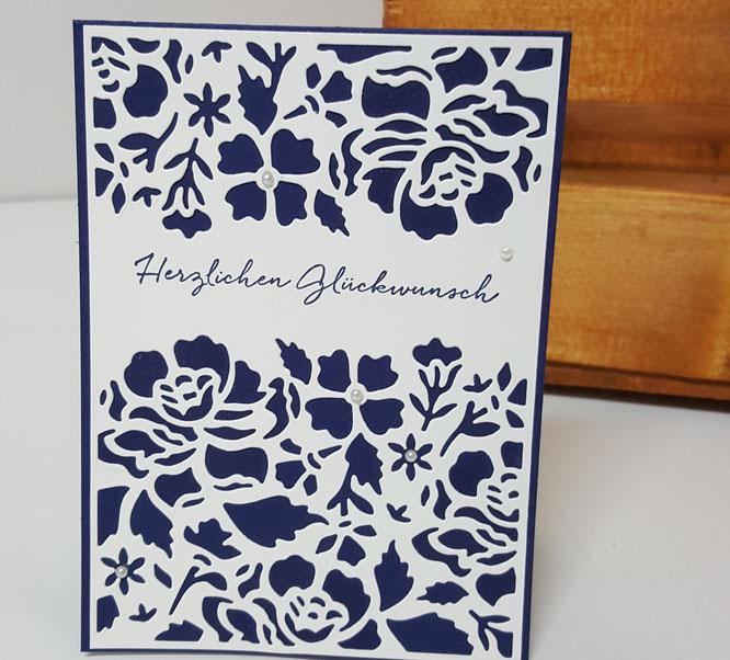 Stempel Florale Grüße Thinlits Florale Fantasie Stampin' Up! Geburtstag Karte Blumen Stempelkiste